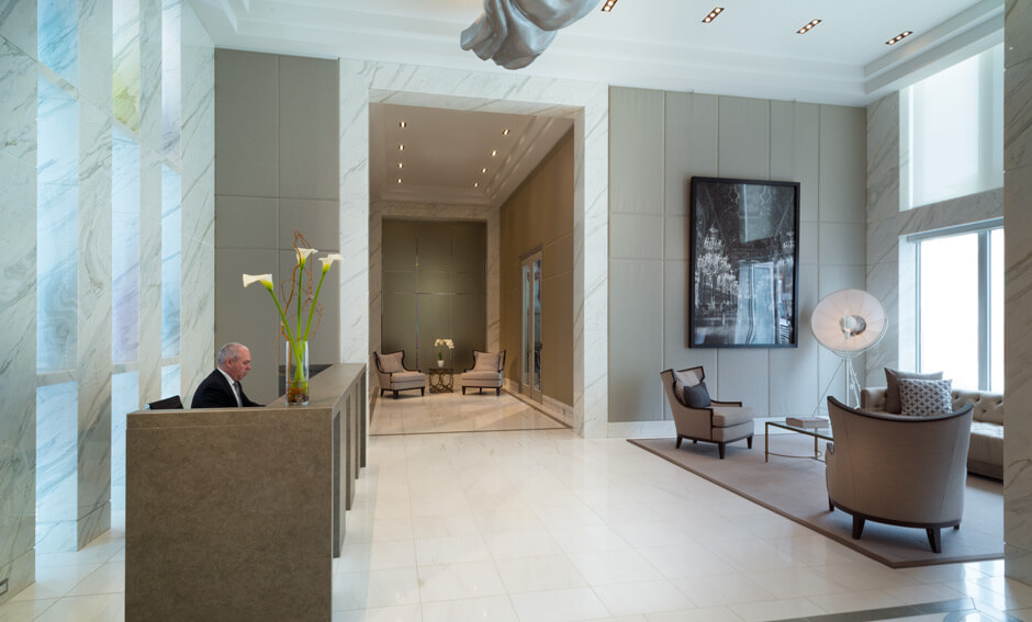 SoHo Champagne lobby and concierge
